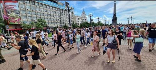 코로나19 속 러시아 극동 대규모 집회에 재확산 우려