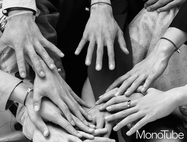 그룹 세븐틴 팔찌 / 사진제공=모노튜브