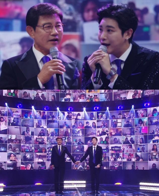 '트롯신이 떴다'에서 설운도-루민 부자가 듀엣 무대를 펼친다. / 사진제공=SBS