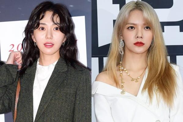 배우 권민아(왼쪽), AOA 멤버 지민/ 사진=텐아시아DB
