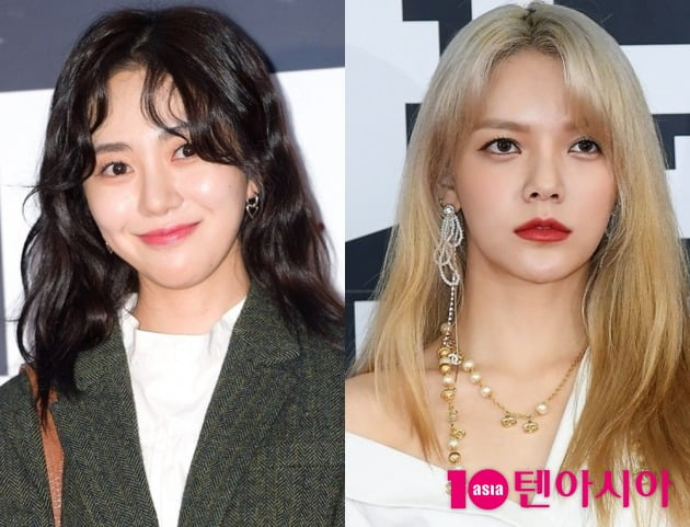 그룹 AOA 출신 배우 권민아(왼쪽), AOA 지민 / 사진=텐아시아DB