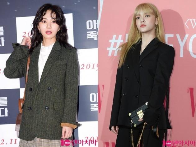 그룹 AOA 출신 배우 권민아(왼)와 지민. /텐아시아DB