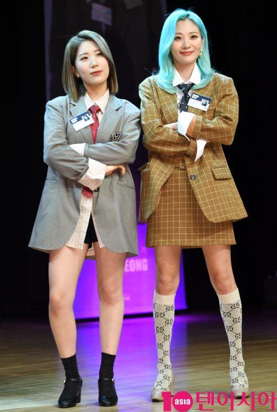 볼빨간사춘기 전 멤버 우지윤(왼쪽)과 현 멤버 안지영. /텐아시아DB