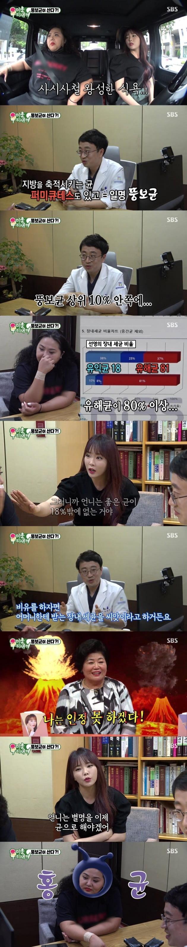 '미우새' 홍선영이 충격적인 뚱보균 검사 결과를 받았다. / 사진제공=SBS
