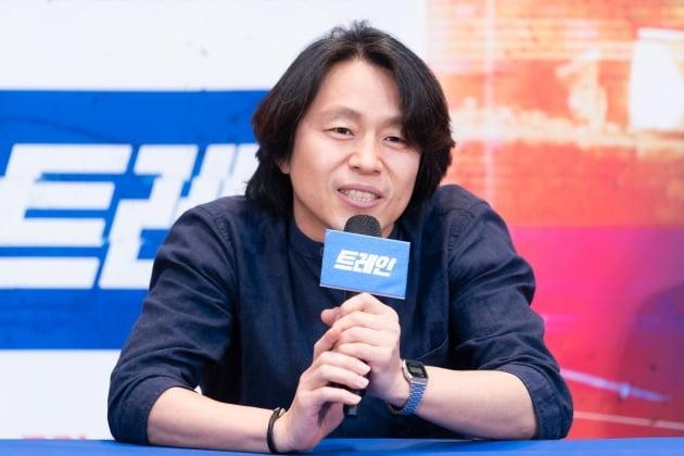 류승진 감독이 6일 오전 온라인 생중계된 OCN 새 오리지널 '트레인' 제작발표회에 참석했다. /사진제공=OCN