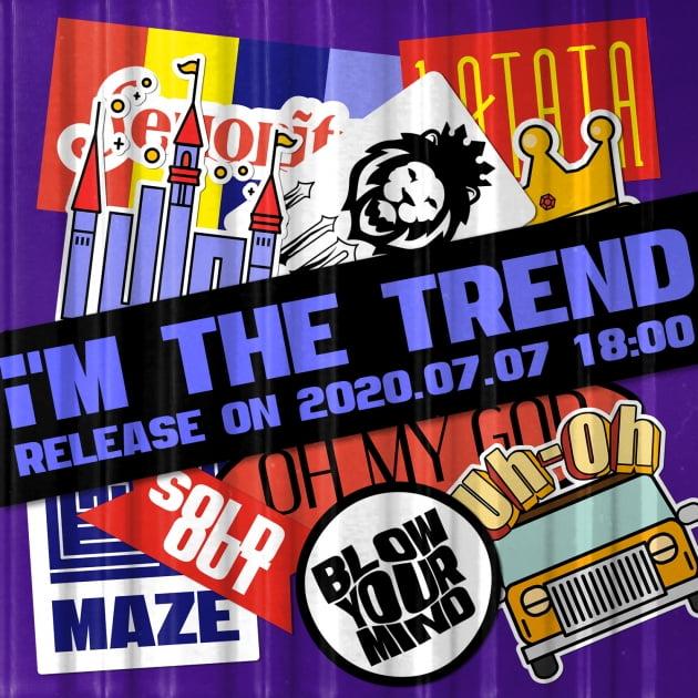 그룹 (여자)아이들의 'i'M THE TREND'의 아트워크 티저 이미지 / 사진제공=큐브엔터테인먼트