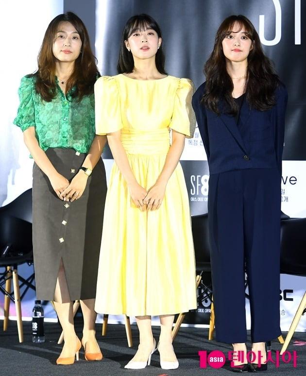 이윤정 감독, 배우 최성은, 김보라./사진=서예진 기자 yejin@