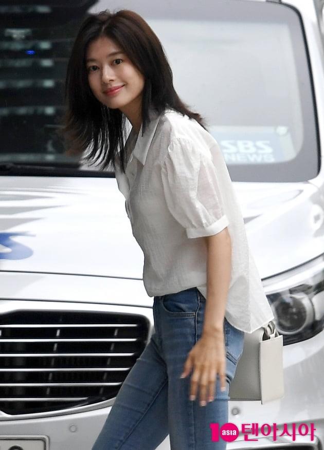 [TEN 포토] 정소민 'DJ 하차후 라디오 첫 출연'