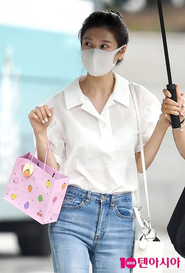 [TEN 포토] 정소민 '김영철의 파워FM 마쳤어요'