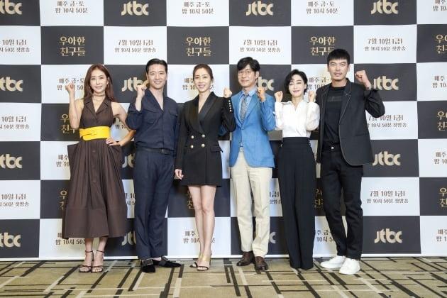 배우 한다감, 배수빈, 송윤아, 유준상, 김혜은, 김성오./사진제공=JTBC