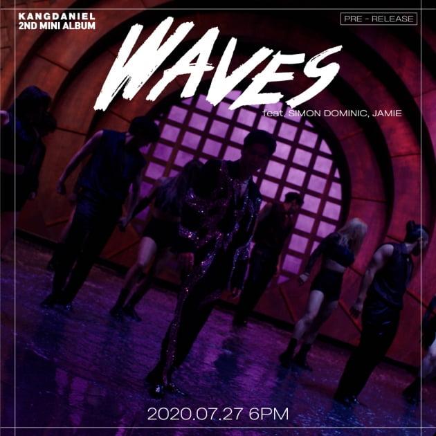 강다니엘 신곡 'Waves' 티저 이미지/ 사진=커넥트엔터테인먼트 제공