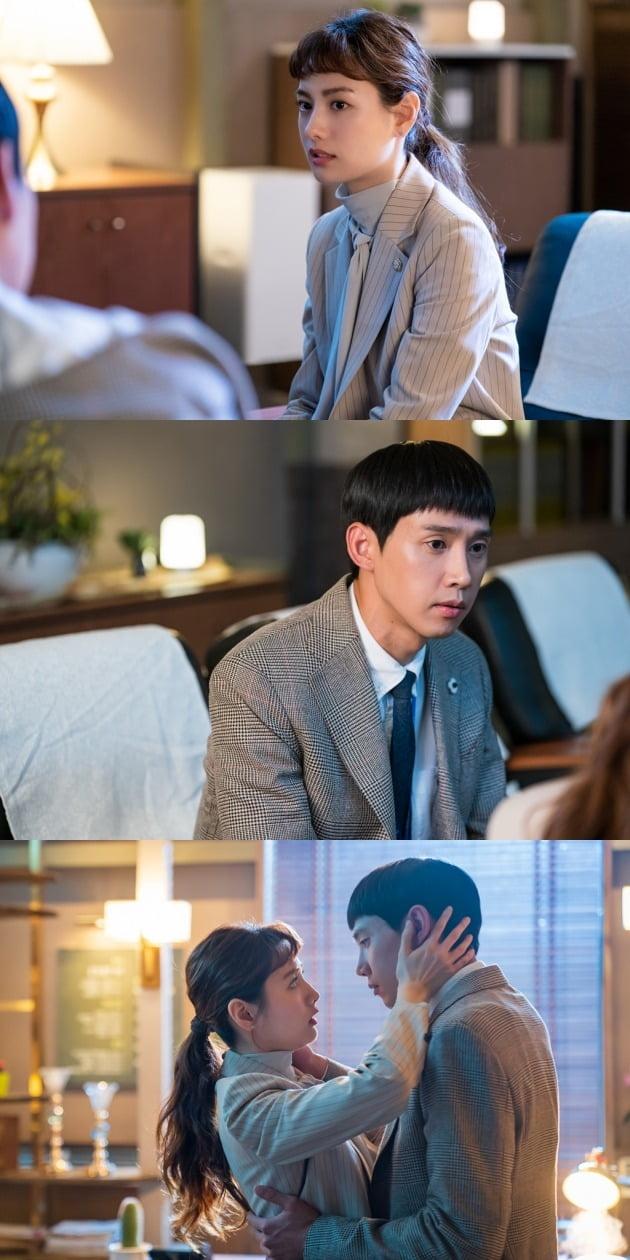 '출사표' 나나와 박성훈의 키스 1초 전 모습이 포착됐다. / 사진제공=셀트리온엔터테인먼트, 프레임미디어