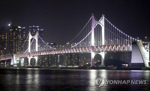 """""""야경명소라더니""""…부산항대교 경관조명 자정 전인데 '캄캄'"""