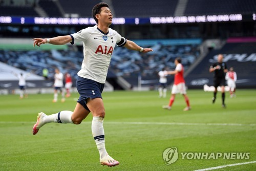 "EPL 10-10 달성한 손흥민 ""오늘따라 팬들이 더 그리워"""