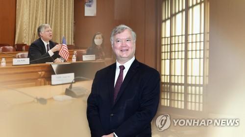 """비건, 주한미군감축론 """"상당한 주둔, 동아시아 美안보이익 증진"""""""