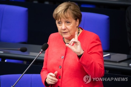 """메르켈 """"홍콩보안법 우려…중국과 인권문제 계속 논의"""""""