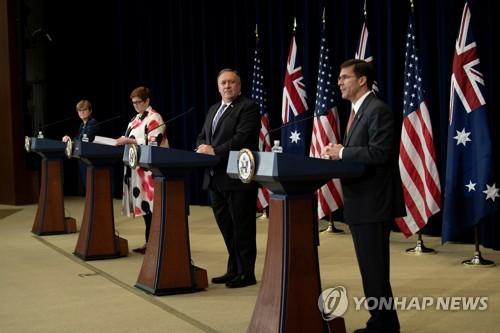 """미·호주 """"북미 비핵화협상 지지·北위협 대응 제재이행 재확인"""""""