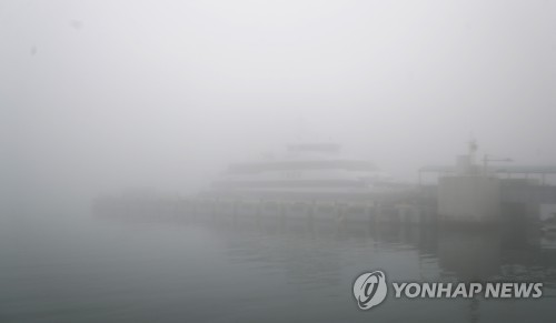 인천 앞바다 안개로 인천∼백령도 여객선 운항 차질