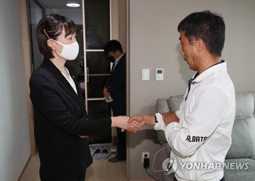 최윤희 문체부 차관, 예천 방문해 육상 선수·관계자와 면담