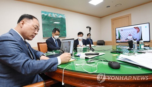 """홍남기, G20회의서 """"세계경제 회복위해 방역·경제 균형 둬야"""""""