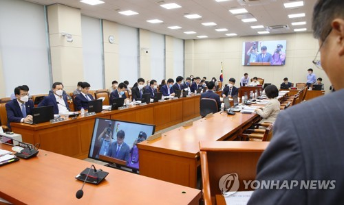 """與 부동산·박지원 속전속결…野 """"입법독재"""" 반발"""