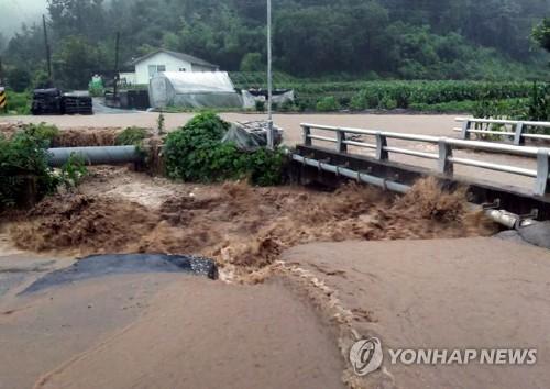 농경지 침수·토사 유출…전북 최고 190㎜ 장맛비로 곳곳 피해(종합)