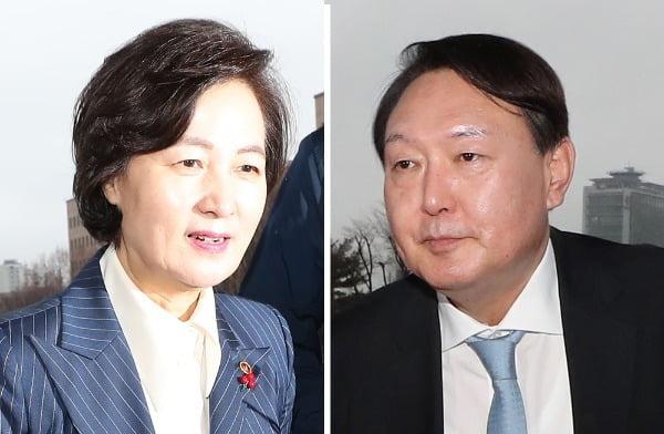 추미애 법무부 장관과 윤석열 검찰총장 / 사진=연합뉴스