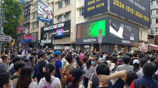 홍콩 시민들이 홍콩보안법 반대 시위를 벌이고 있다.(사진=연합뉴스)