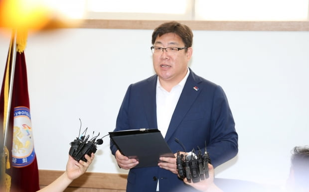 인사위 결과 발표하는 경주시체육회장 /사진=연합뉴스