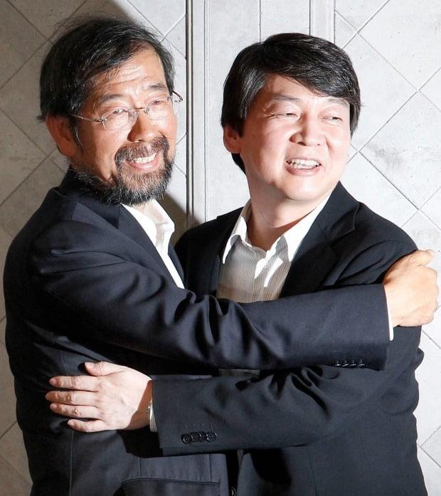 서울시장 보궐 선거 후보 단일화 합의 모습 (사진=연합뉴스)