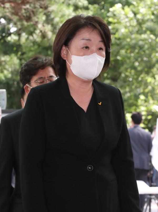 심상정, '허탈한 표정으로'. 사진=연합뉴스
