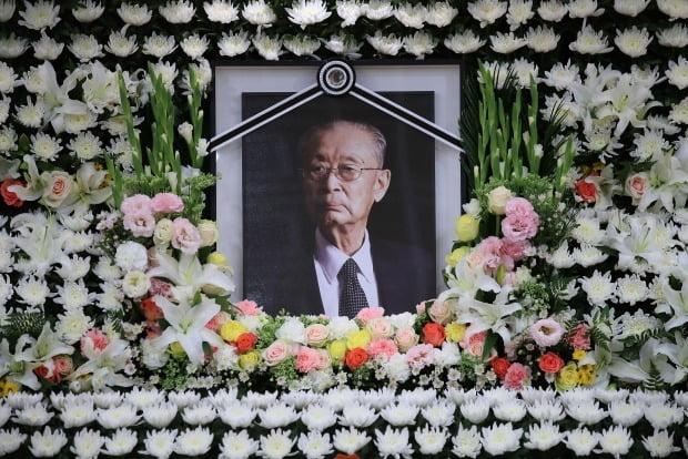서울아산병원 장례식장에 마련된 고 백선엽 장군 빈소. /사진=연합뉴스