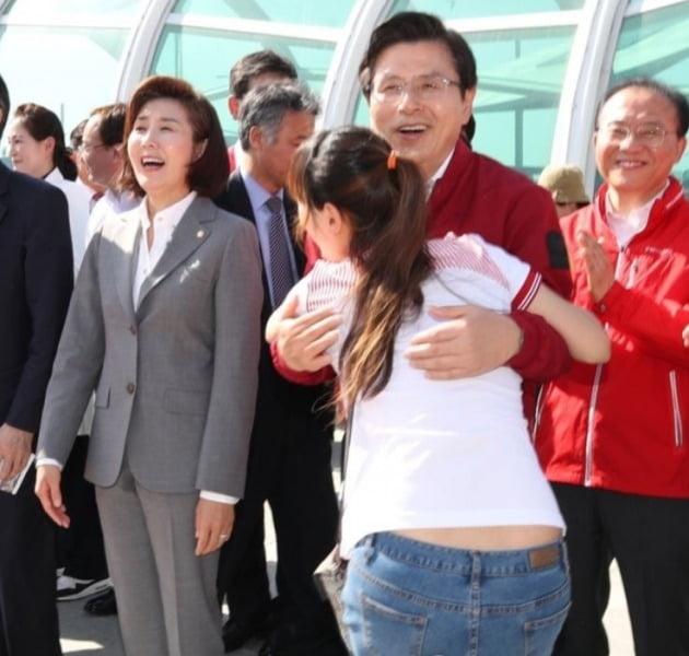지난해 5월 2일 동대구역을 방문한 황교안 전 대표 [연합뉴스 자료사진]