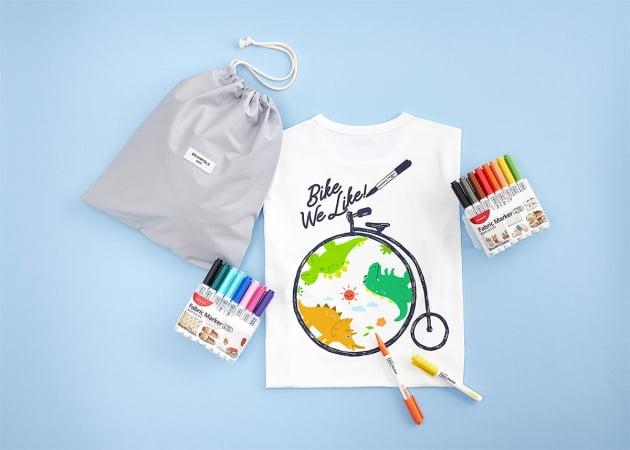 모나미와 빈폴키즈, 올해도 DIY 티셔츠 키트 내놨다