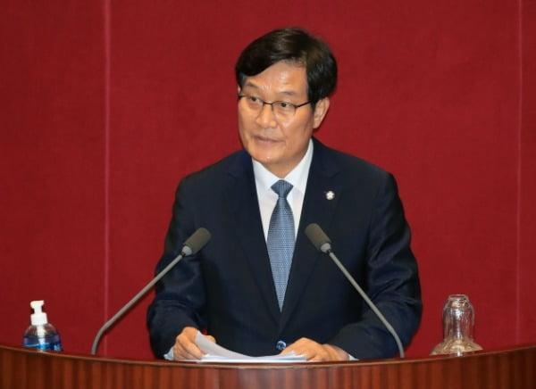 신동근 더불어민주당 의원이 지난 4일 국회 본회의에서 5분 자유발언을 하고 있다. /사진=연합뉴스
