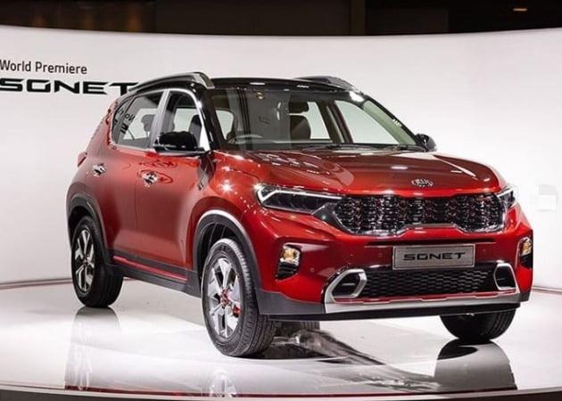 기아자동차가 인도 소형 SUV 시장에 대응하기 위해 개발한 '쏘넷'(SONET)의 양산형 모델이 공개됐다. [사진=인도 현지 거주민 제공]