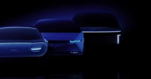 아이오닉 브랜드 제품 라인업 렌더링 이미지(좌측부터 아이오닉 6, 아이오닉 5, 아이오닉 7).사진=현대자동차 제공.