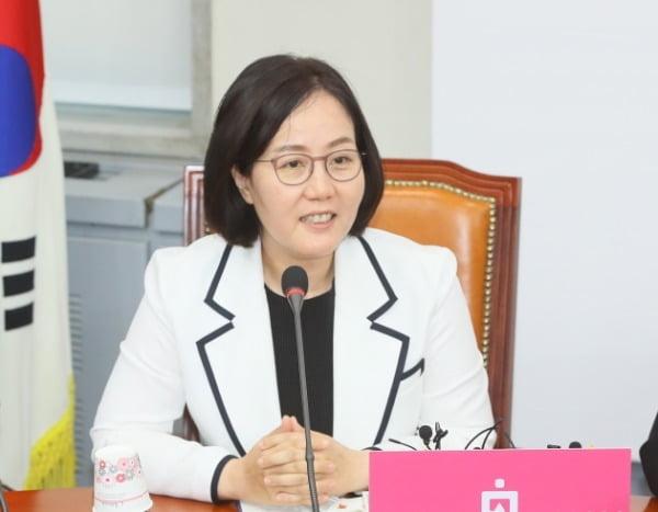 김현아 미래통합당 비상대책위원이 지난 6월1일 국회에서 열린 비상대책위원회의에서 발언하고 있다. /사진=연합뉴스