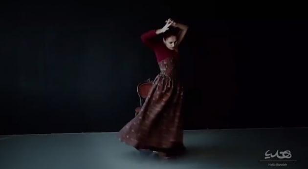이란 당국이 문제삼은 협업 프로젝트 중 한 장면. 여성 무용수가 남성 작곡가가 쓴 곡에 맞춰 춤을 추고 있다.  인스타그램 캡쳐