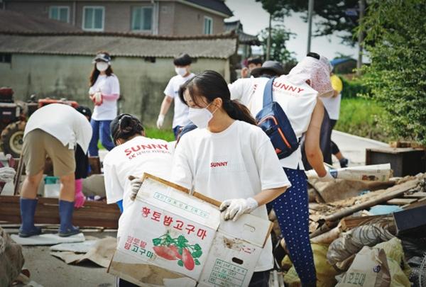 SK 대학생 자원봉사단 SUNNY, 합천·담양 수해 복구 봉사활동 구슬땀