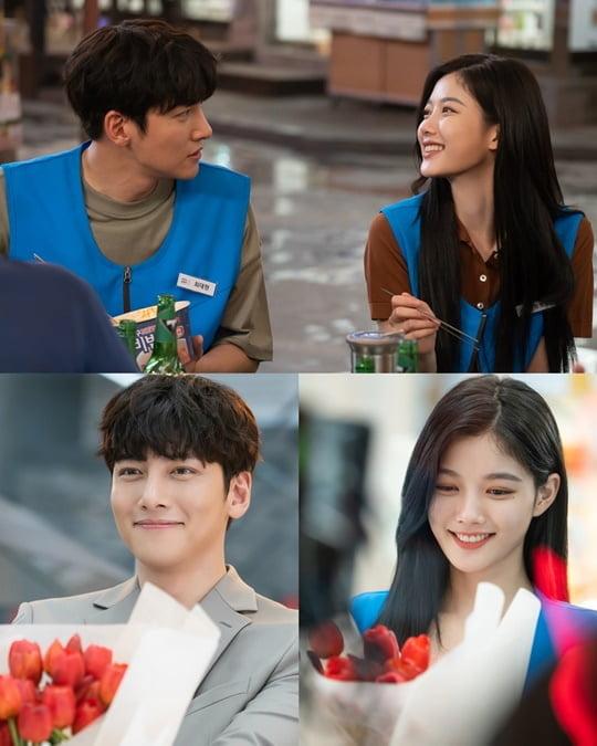 '편의점 샛별이' 지창욱과 김유정 (사진= SBS 제공)
