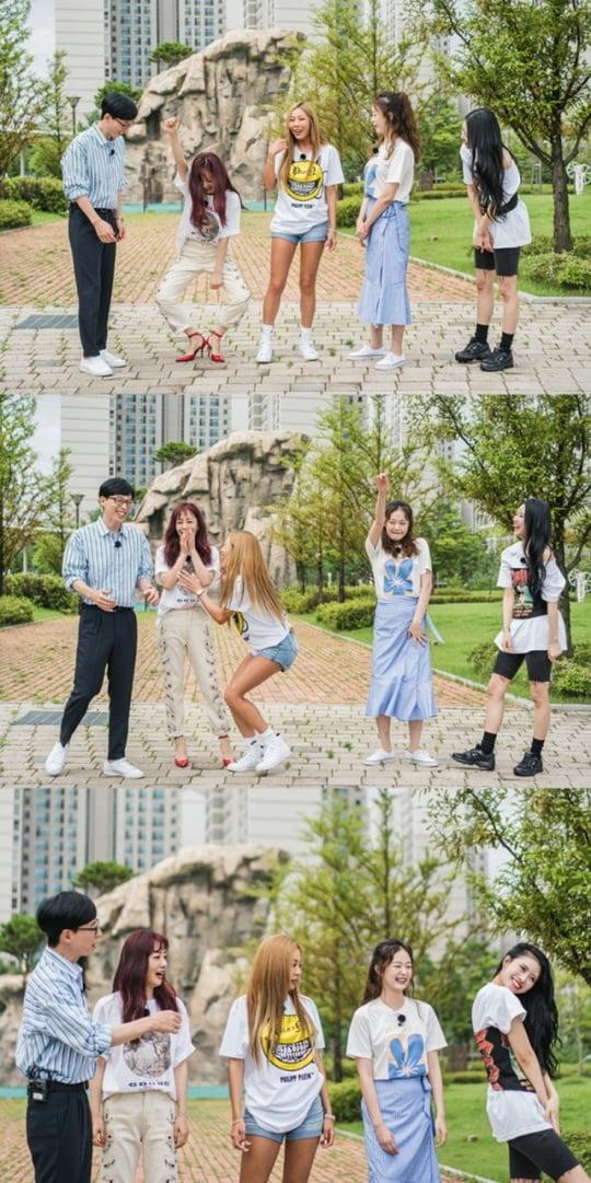 '식스센스' 유재석과 오나라, 전소민, 제시, 미주 (사진= tvN 제공)