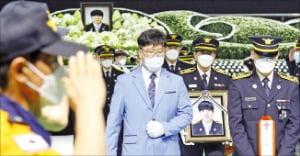 피서객 구하다 순직…김국환 소방장 영결식 엄수