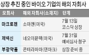 바이오社, 해외 설립 자회사 잇따라 코스닥 상장