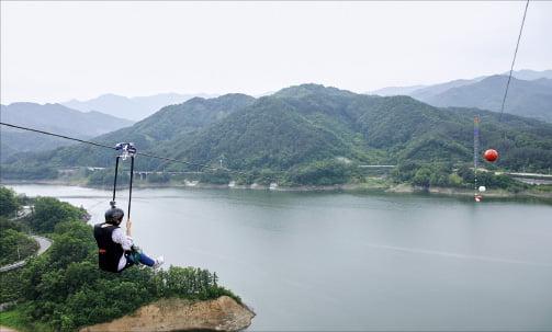 김천 부항댐 집와이어