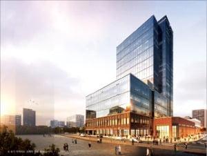 우미건설이 경기 화성시 동탄2신도시에 짓는 지식산업센터인 '동탄 우미 뉴브' 조감도.