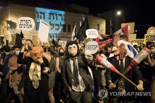 """이스라엘 네타냐후, 시위 보도에 불만 표출…""""북한 같다"""""""