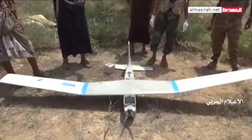 """예멘 반군 """"미국제 RQ-20 소형 정찰 드론 격추"""""""
