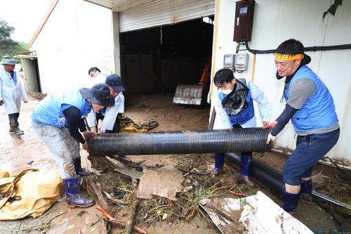 충북 이재민·임시대피 1천75명…피해 복구 총력