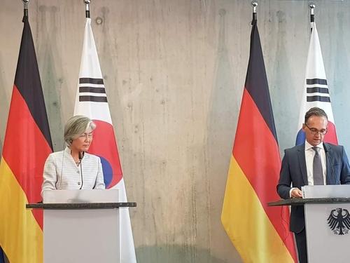 [특파원 시선] 강경화 만난 독일 외무에 왜 러시아 방문 질문만